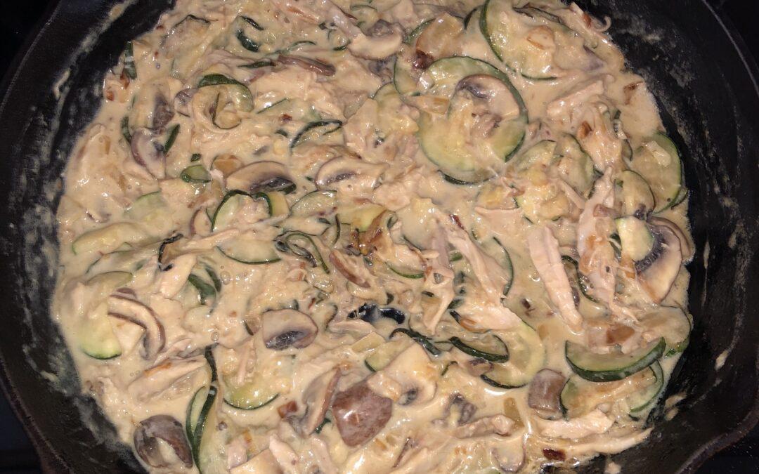Dairy-free creamy, cheesy & garlic vegetables