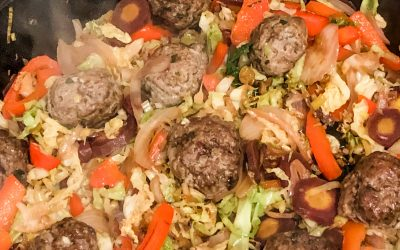 Lemongrass and ginger meatballs